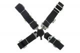 Bezpečnostní pás Pro Sport 4-bodový černý - 50mm