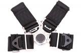 Bezpečnostní pás Pro Sport 4-bodový černý - 76mm