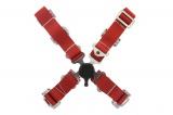 Bezpečnostní pás Pro Sport 4-bodový červený - 50mm