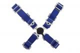 Bezpečnostní pás Pro Sport 4-bodový modrý - 50mm
