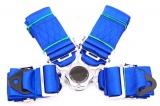 Bezpečnostní pás Pro Sport 4-bodový modrý - 76mm