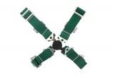 Bezpečnostní pás Pro Sport 4-bodový zelený - 50mm