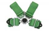 Bezpečnostní pás Pro Sport 4-bodový zelený - 76mm