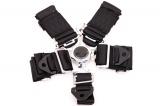 Bezpečnostní pás Pro Sport 5-bodový černý - 76mm