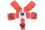 Bezpečnostní pás Pro Sport 5-bodový červený - 76mm