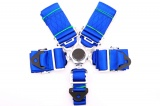 Bezpečnostní pás Pro Sport 5-bodový modrý - 76mm