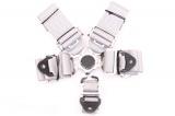 Bezpečnostní pás Pro Sport 5-bodový stříbrný - 76mm