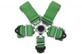 Bezpečnostní pás Pro Sport 5-bodový zelený - 76mm