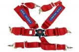 Bezpečnostní pás Pro Sport 6-bodový červený - 76mm (FIA)