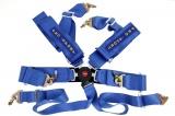 Bezpečnostní pás Pro Sport 6-bodový modrý - 76mm (FIA)