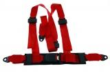 Bezpečnostní pás Pro Sport Monza 3-bodový červený - 50mm (E)