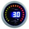 Přídavný budík Depo Racing Digital 2in1 - tlak turba elektronický + teplota výfukových plynů (EGT)