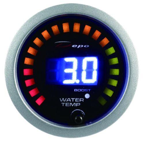 Přídavný budík Depo Racing Digital 2in1 - tlak turba elektronický + teplota vody