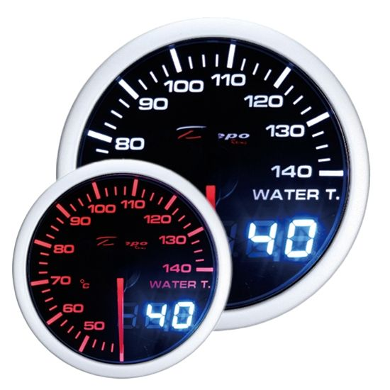 Přídavný budík Depo Racing Dual View - teplota vody