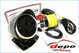 Přídavný budík Depo Racing Dual View - tlak paliva