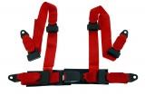 Bezpečnostní pás Pro Sport Monza 4-bodový červený - 50mm (E)