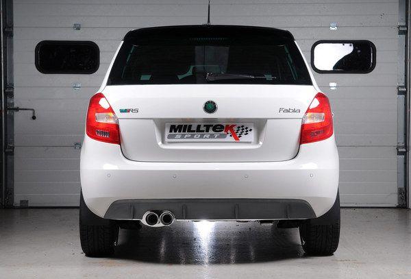 Milltek Sport Catback výfuk Milltek Škoda Fabia II 5J RS 1.4 TSI 180PS hatchback (07-14) - verze bez rezonátoru