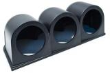 Držák na palubovku Depo Racing pro 3 přídavné budíky 52mm - černý