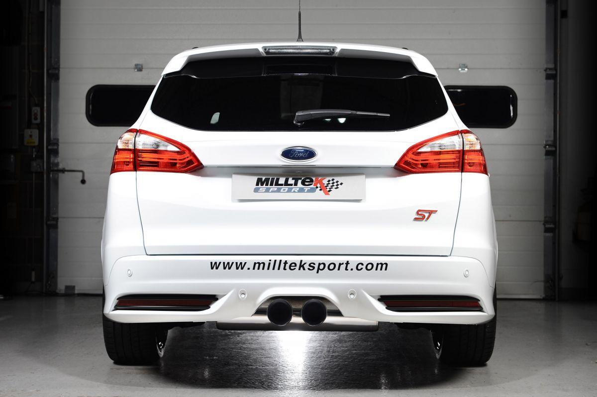 Milltek Sport Catback výfuk Milltek Ford Focus Mk3 ST 2.0 EcoBoost kombi/sedan/limousine (12-) - verze bez rezonátoru - koncovky leštěné