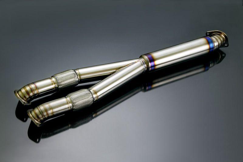 Středový díl k výfuku Y pipe HPP Nissan GT-R R35 (rezonátor) - titanový