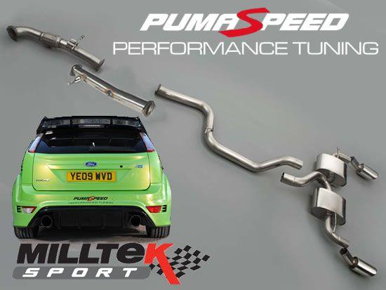 Milltek Sport Turboback výfuk Milltek Ford Focus Mk2 RS 2.5T 305PS (09-10) - verze s rezonátorem - závodní verze