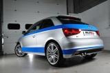 Catback výfuk Milltek Audi A1 S-line 1.4 TFSI 185PS S-tronic (10-15) - verze bez rezonátoru - koncovka leštěná