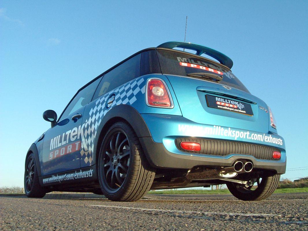 Milltek Sport Catback výfuk Milltek Mini Cooper S Mk2 R56 1.6T (06-14) - verze bez rezonátoru - koncovka GT