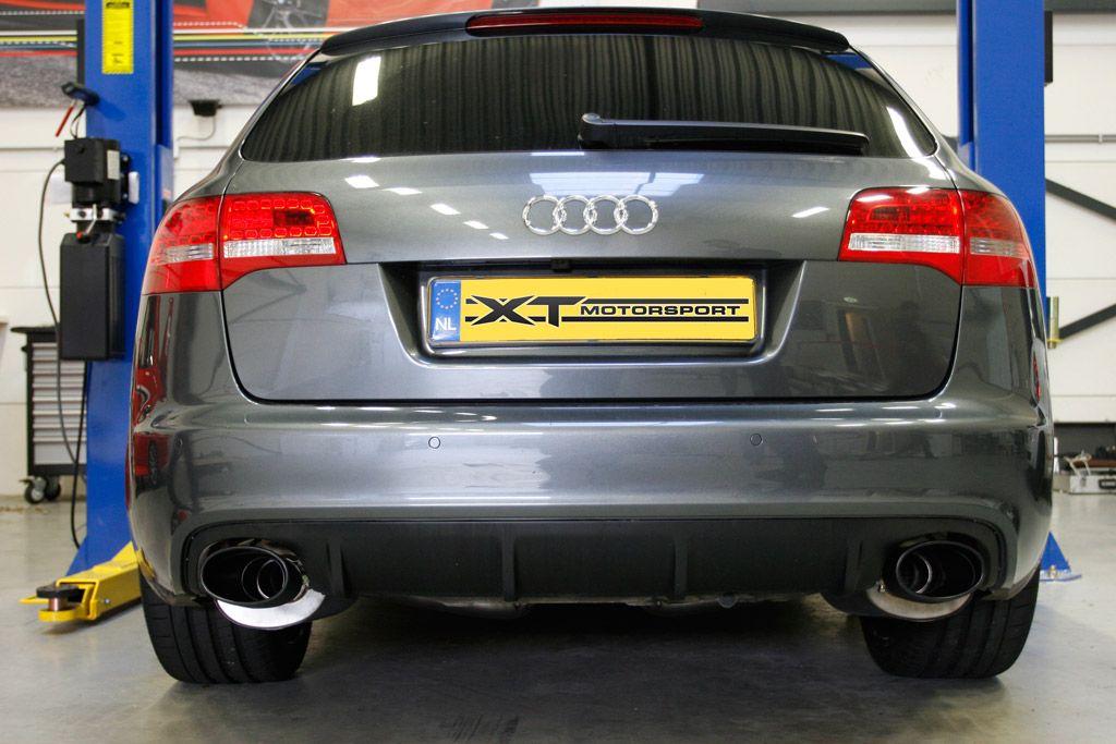 Milltek Sport Catback výfuk Milltek Audi RS6 5.0 V10 Bi-turbo Quattro (08-) - koncovky Ceramic-Coated Black Oval Tip (homologace)