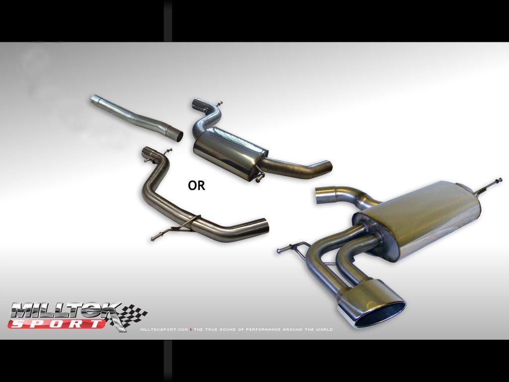 Milltek Sport Catback výfuk Milltek Seat Leon Cupra 2.0 TFSI 240PS (06-) - verze s rezonátorem - koncovka Special Oval (homologace)