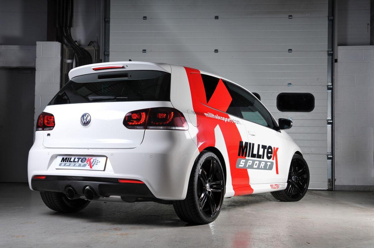 Milltek Sport Catback výfuk Milltek VW Golf 6 R 2.0 TSI 270PS (09-13) - verze s rezonátorem - koncovky černé (homologace)