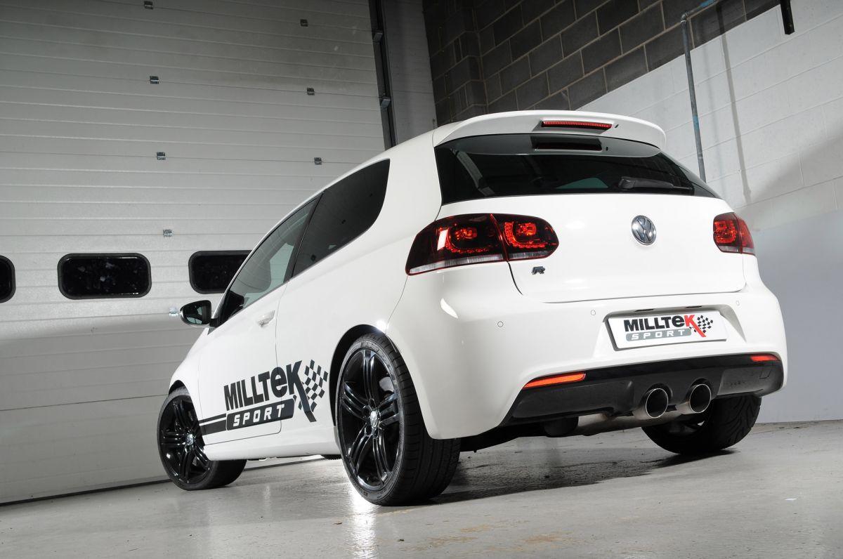 Milltek Sport Catback výfuk Milltek VW Golf 6 R 2.0 TSI 270PS (09-13) - verze s rezonátorem - koncovky titanové (homologace)