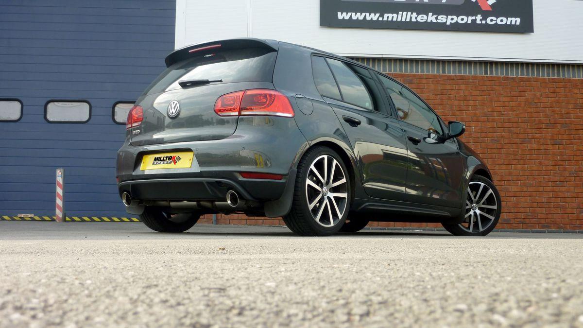 Milltek Sport Particulate filter back výfuk Milltek VW Golf 6 GTD 2.0 TDi 170PS (09-14) - koncovky černé (GTi style)