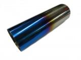 Koncovka výfuku kulatá rovná s titanovým efektem - průměr 76mm