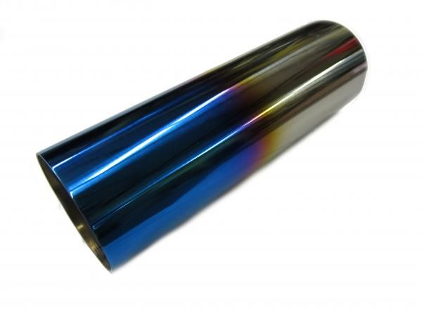 Jap Parts Koncovka výfuku kulatá rovná s titanovým efektem - průměr 76mm