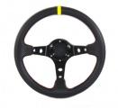 Sportovní volant SW401 - 350mm semiš / 90mm - karbon look/černý
