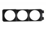 Držák 1DIN do šachty autorádia Racetech pro 3 přídavné budíky 52mm - karbon look