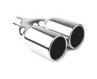 Jap Parts Koncovka výfuku kulatá rovná dvojitá - průměr 2x 76mm