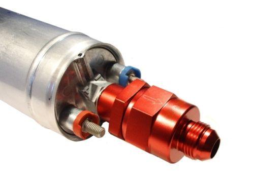 """Zpětný ventil celo hliníkový Torques pro palivové pumpy Bosch 044 - D-08 (AN8) 3/4""""x16-UNF"""