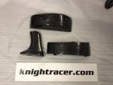 Karbonové mezikusy pro zvýšení základny zadního spoileru Knight Racer Nissan GT-R R35
