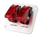 Startovací panel hliníkový - 2x přepínač kill switch