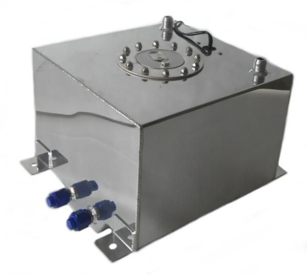 Závodní celohliníková palivová nádrž 20l (racing fuel tank) se senzorem na ukazatel stavu paliva