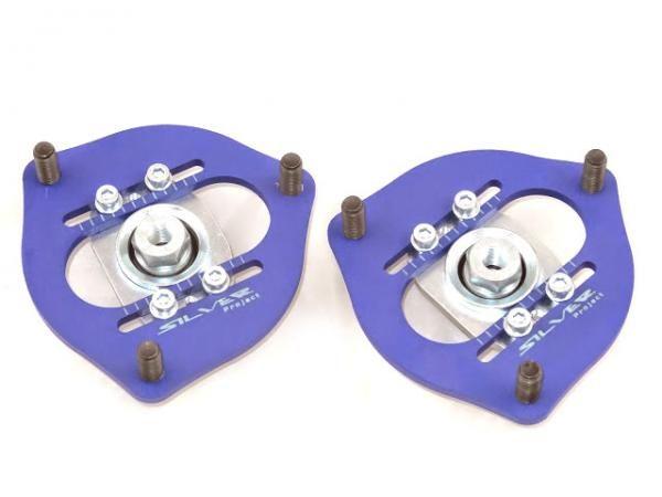 Přední horní uložení tlumičů (Pillowball Top Mounts) Silver Project Nissan 200SX S13/S14/S15 - -12mm