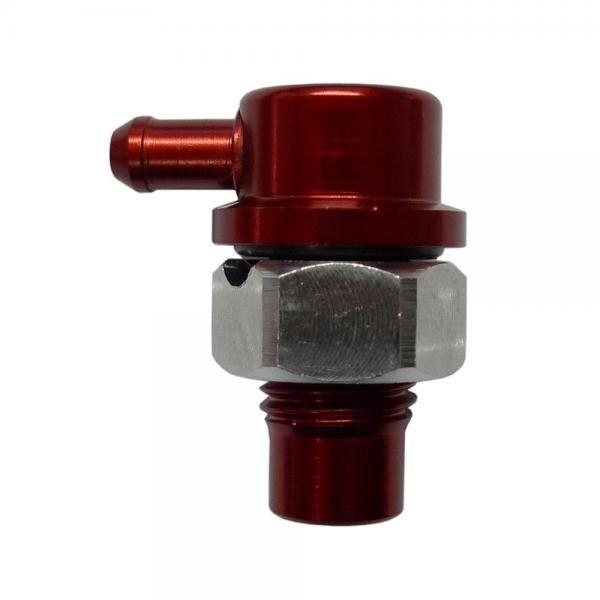 """Mocal Odvětrávací ventil do nádrže D-04 (7/16""""x20-UNF) s vývodem 90° na hadici 5mm"""