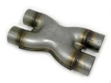 X redukce VMS Racing nerez 2 x 63,5mm > 2 x 63,5mm