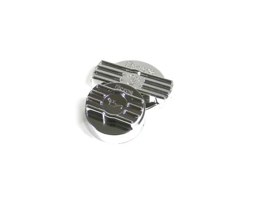 Kryt na víčko oleje a vody Forge Motorsport VW Golf 5 R32 - černé/leštěný hliník